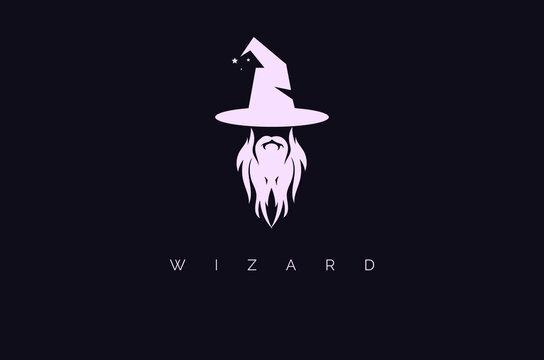 Creative minimal wizard warlock logo