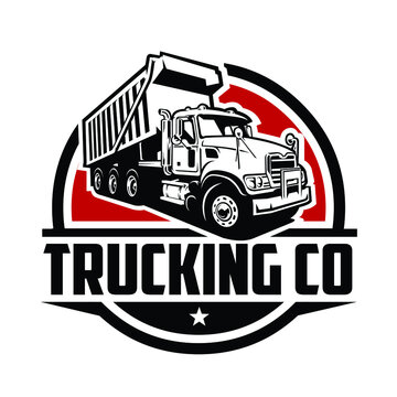 Trucking Company Logo. Premium Badge Logo Vector