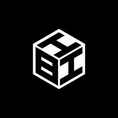 BII letter logo design with black background in illustrator, vector logo modern alphabet font overlap style. calligraphy designs for logo, Poster, Invitation, etc.