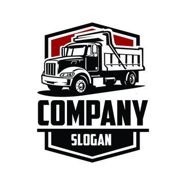 Dump truck logo vector isolated. Good for transport business