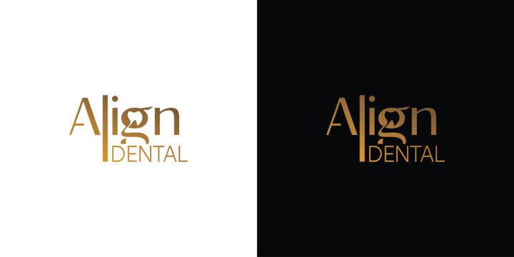 logo align dental simple and modern