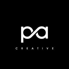 Obraz PA Letter Initial Logo Design Template Vector Illustration - fototapety do salonu