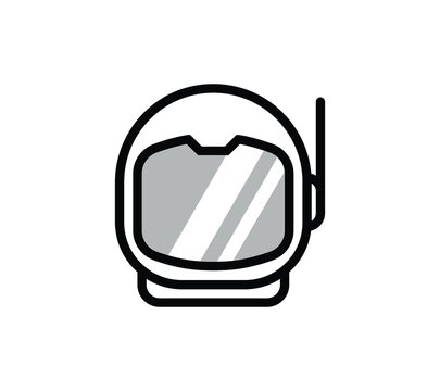 Astronaut Helmet vector icon. Space helmet outline icon from editable astronomy concept. can be used for web and mobile