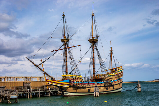 The Mayflower II ship in Plymouth.