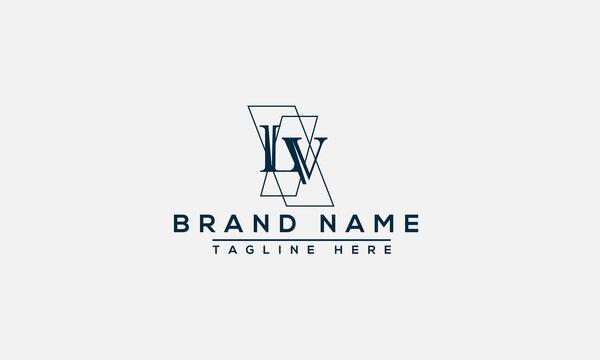 LV Logo Design Template Vector Graphic Branding Element.