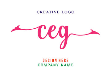 Obraz CEG lettering logo is simple, easy to understand and authoritative - fototapety do salonu
