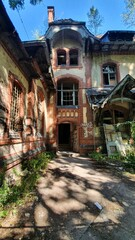 scenery around the abandoned sanatorium at Beelitz