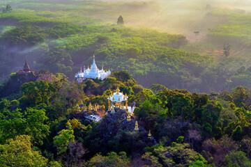 Wall Mural - Viewpoint of Khao Na Nai Luang Dharma Park at sunrise in Surat Thani, Thailand.