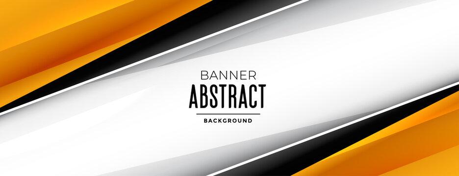 stylish geometric wide banner design