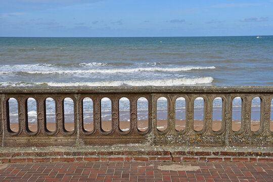 Cabourg; France - october 8 2020 : Promenade Marcel Proust