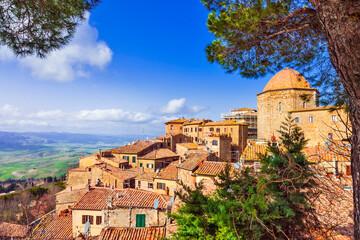 Historic medieval towns (borgo) of Tuscany, Volterra. Italy travel and landmarks