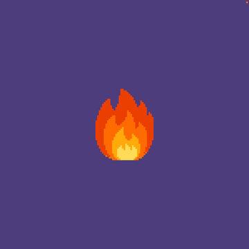 Pixel art fire