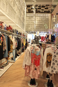 Barcelona, Spain - september 29th 2019: Desigual clothing store