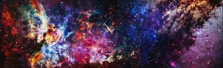 Mystical beautiful space. Unforgettable diverse space background Elements of this image furnished by NASA
