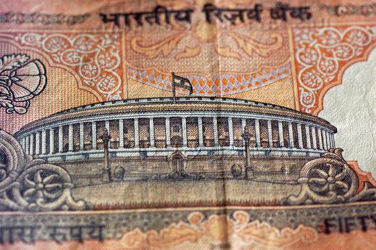 India Lok Sabha banknote