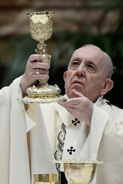Pope Francis leads Easter Mass at the Vatican