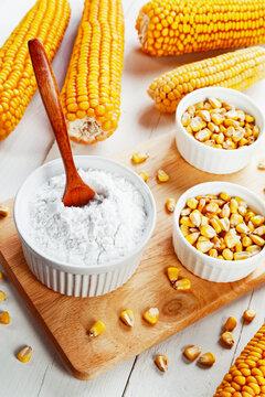 Starch and corn cob