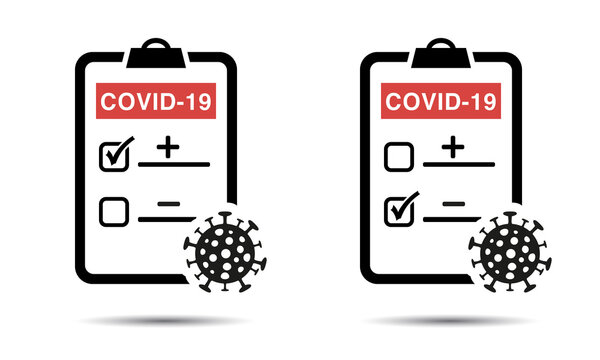 Positve or negative testing result of Covid-19 Icon