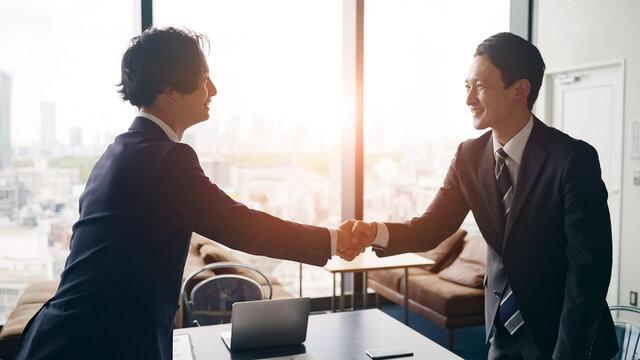握手するビジネスパーソン