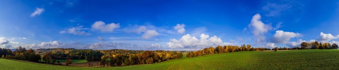 Jesienna panorama kaszub