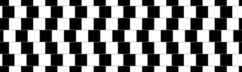 Are these lines parallel and horizontal, yes they are. Classic optical illusion made as seamless pattern, vector design image.