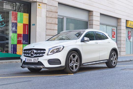 SABADELL, SPAIN-APRIL 4, 2021: 2018 Mercedes-Benz GLA 200d (CDI), facelift, First generation (X156)