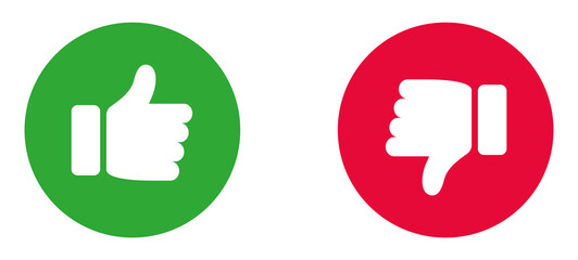 Thumbs up and down flat icon. Like icons. Hands icon. Like icons. Thumbs up collection.