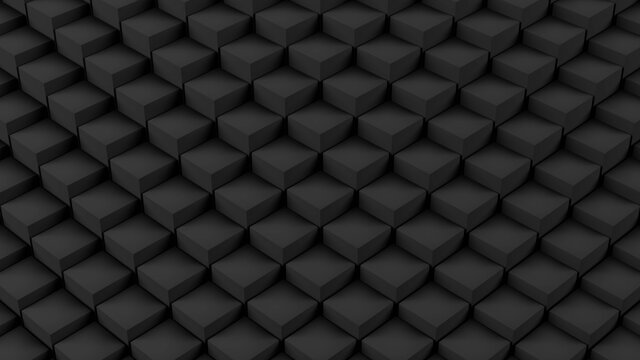 Abstract white cube geometry wave pattern motion, Clean 3D rendering minimal object ripple displacement illustration, modern presentation background, loading screen design