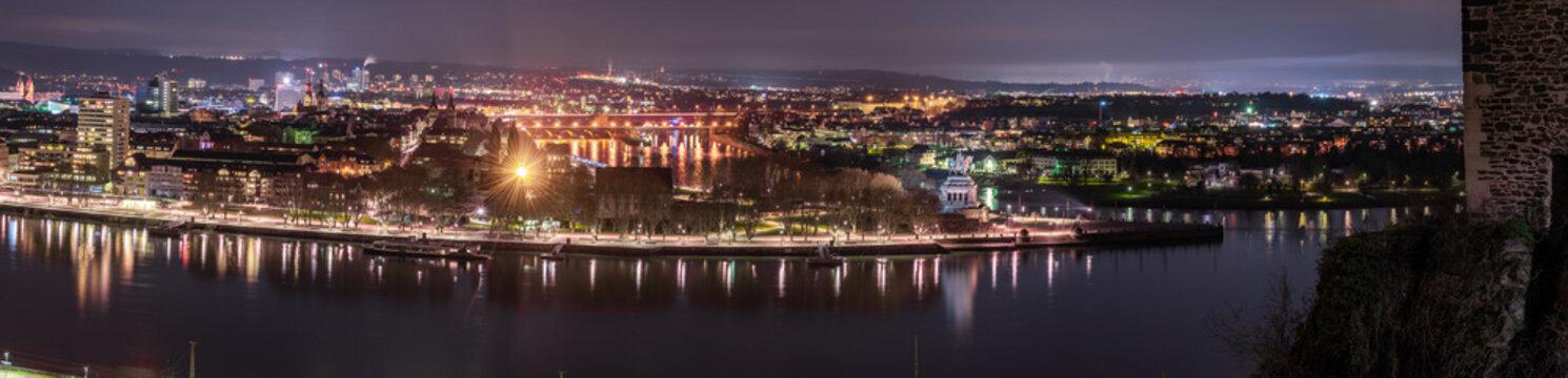 Koblenz Stadtpanorama