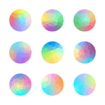 Vector trendy colorful modern bright circles set. Template or poster, banner, flyer and presentation, screens and mobile app