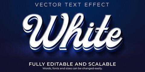 Obraz White blue text effect, editable prestige and branding text style - fototapety do salonu