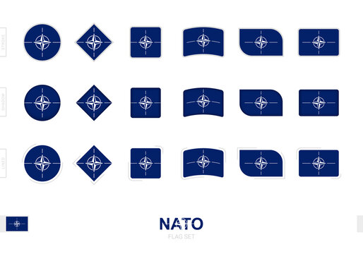 Nato flag set, simple flags of Nato with three different effects.