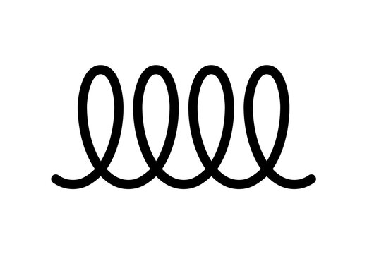 Induction icon cooking symbol vector. Induction sign spiral spring logo design