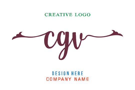 CGV lettering logo is simple, easy to understand and authoritative