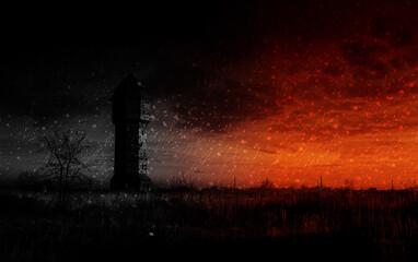 Mroczna wieża na pustkowiu
