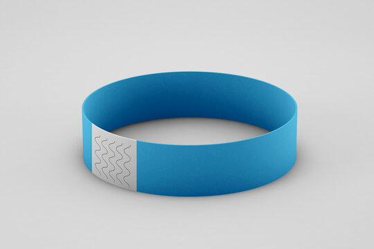Bracelet mockup on soft color background