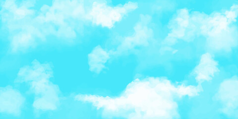 Realistic cloud and sky vector illustration background. landscape, copy space, web header, banner, footer,