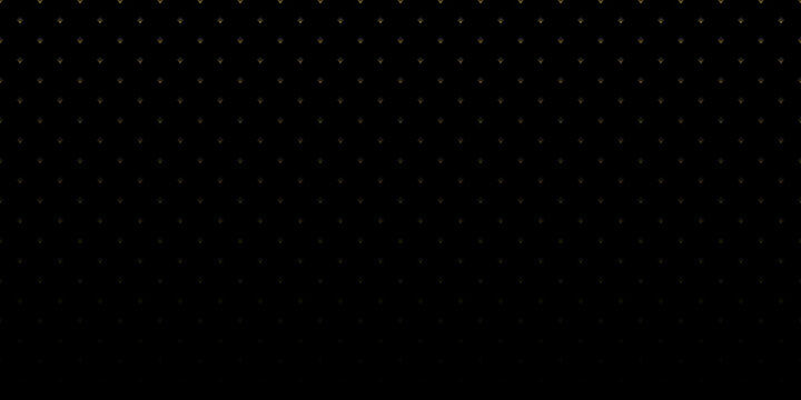 Gold square dot patterns on black wallpaper, Abstract vector backgrounds.