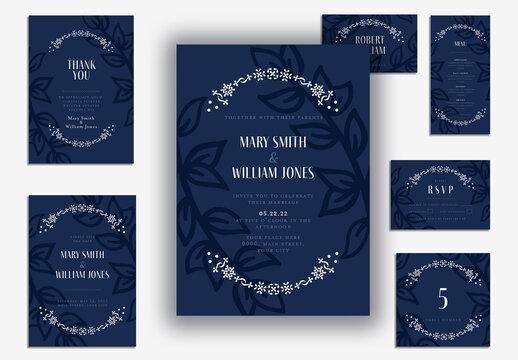 Elegant Blue Wedding Suite