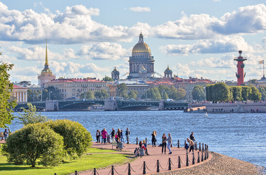Saint Isaac's Cathedral, Palace Bridge and Admiralty in Saint Petersburg