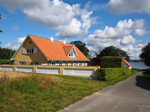 Beautiful classical summer house by the sea ocean Denmark