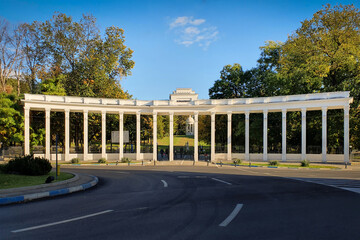 Nicolae Romanescu Park entrance, in Craiova city, Romania. The biggest natural park in Eastern Europe.