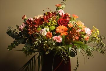 Obraz bukiet kwiatów - fototapety do salonu