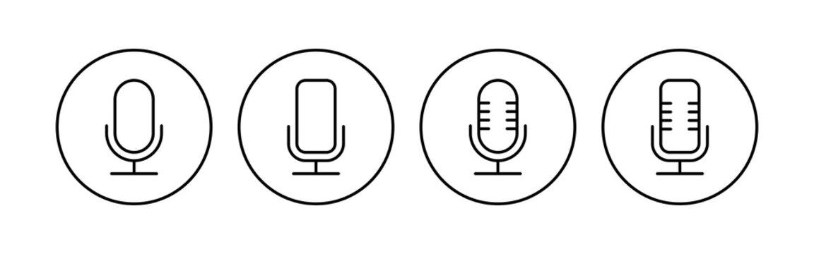 Microphone icon set. karaoke icon vector