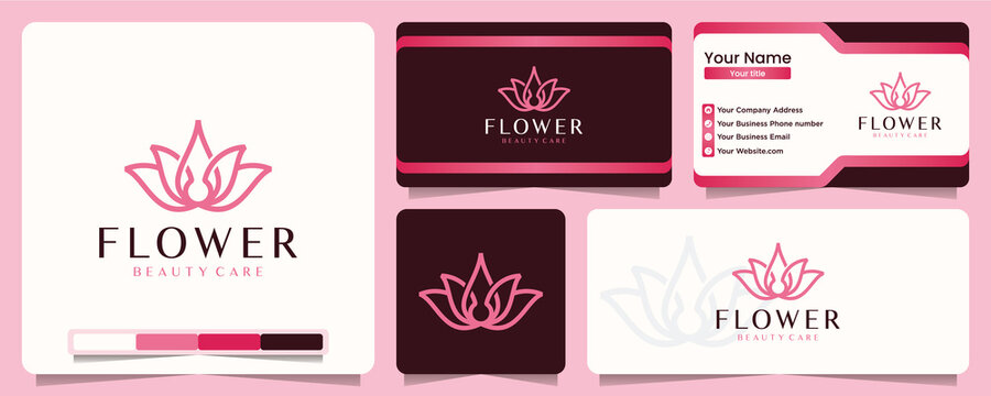 flower , yoga , logo design inspiration