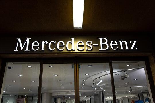 Mercedes - Benz logo showroom