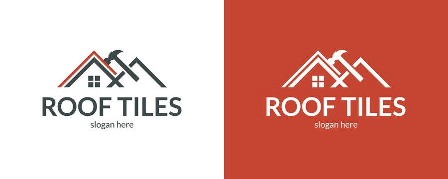 Creative roof tiles logo