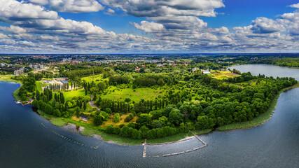 Fototapeta  Olsztyn-miasto czterech rzek i piętnastu jezior na Warmii w północno-wschodniej Polsce obraz