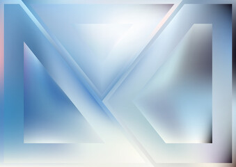 Shiny Blue and White Geometric Abstract Background Wall mural
