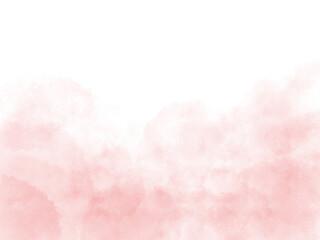 Fototapeta にじんだ水彩のピンクのグラデーション背景、ふわふわした春っぽい色の壁紙